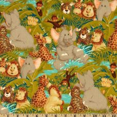 Jungle Babies Toss Cotton