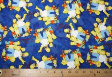 Simpsons Family Portrait Cotton - Royal