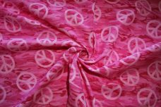 Peace Camo Cotton - Pink