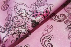 Sparkle Skulls Cotton - Pink
