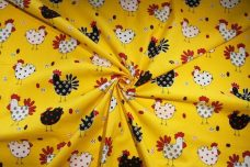 Yellow Chickens Cotton