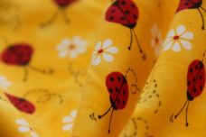 Yellow Ladybugs Cotton