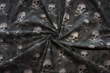 Sparkle Skulls Cotton - Charcoal