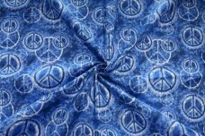 Tie-Dye Peace Sign Cotton - Blue