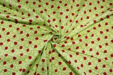 Green Ladybugs Cotton