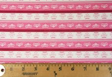 Crowns Stripe Cotton- Pink