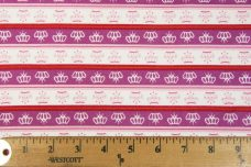 Crowns Stripe Cotton - Violet