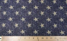 Navy Sparkle Stars Cotton
