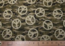 Peace Camo Cotton - Army Green