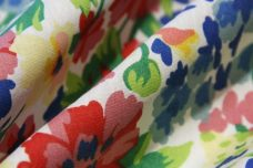 Bright Floral Poly/Cotton