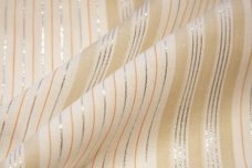 Metallic Various Stripe Batiste - Creamsicle & Beige