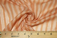 Metallic Stripe Batiste - Peach