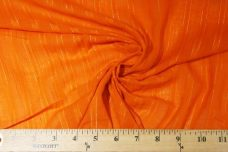 Metallic Dobby Stripe Gauze - Orange
