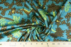 Modern Teal Toile Polished Cotton