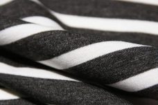Heathered Charcoal & White Rayon/Spandex Jersey