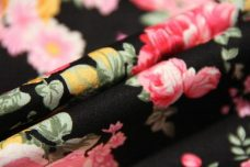 Vintage Floral Cotton - Black
