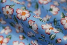 Delicate Floral Cotton - Light Blue