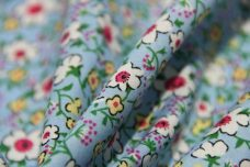 30's Floral Cotton - Light Blue