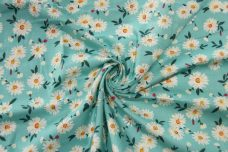Daisy Toss Cotton - Aqua