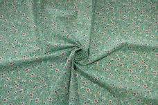 30's Floral Cotton - Spearmint