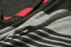Coral & Charcoal Various Stripe Jersey