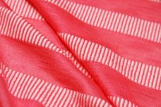 Neon Coral Ribbed Stripe Jersey