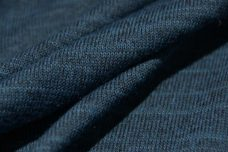Heathered Prussian Stretch Knit