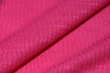 Ribbed Tissue Jersey - Hot Pink