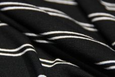 Black & White Double Pinstripe Jersey