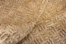 Geometric Embossed Fur - Champagne