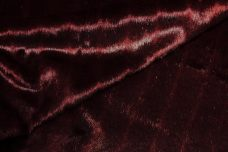 Pelted Mink Fur - Black Cherry