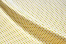 Stretch Satin Pindot - Sunflower