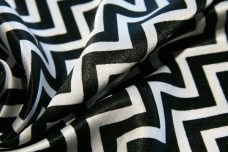 Satin Chevron - Black