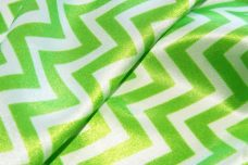 Satin Chevron - Lime