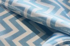 Satin Chevron - Baby Blue