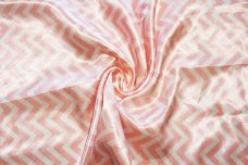 Satin Chevron - Blush