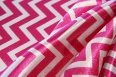 Satin Chevron - Hot Pink