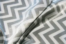Satin Chevron - Silver