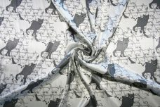 Kitty Cat Satin - Grey