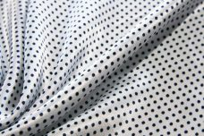 Satin Pindot - Navy