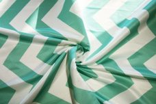 Bridal Satin Chevron - Aquamarine
