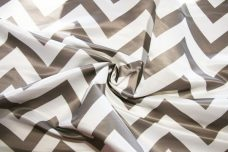 Bridal Satin Chevron - Silver