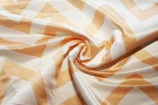 Bridal Satin Chevron - Peach