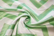 Bridal Satin Chevron - Mint