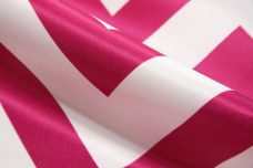 Bridal Satin Chevron - Fuchsia