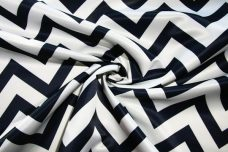 Bridal Satin Chevron - Navy