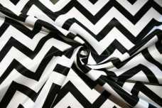 Bridal Satin Chevron - Black