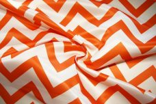 Bridal Satin Chevron - Orange