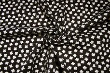 Small Black & Ivory Shamrock Cotton/Poly Canvas