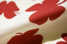 Large Red Shamrock Cotton/Poly Canvas